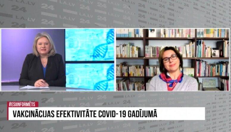 Infektoloģe Angelika Krūmiņa: Jebkura vakcīna var radīt blakus parādības