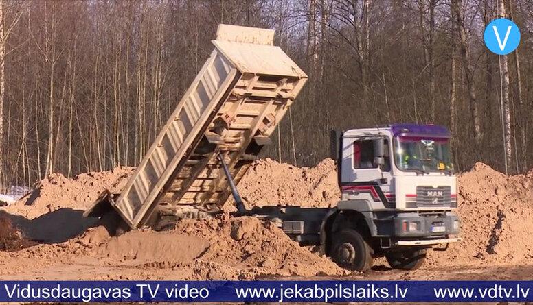Līvānos uzsākta rūpniecības angāra būvniecība