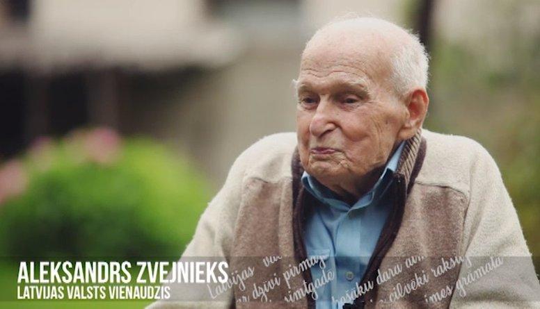 Simtgadnieks Aleksandrs Zvejnieks Latvijas simtgadei
