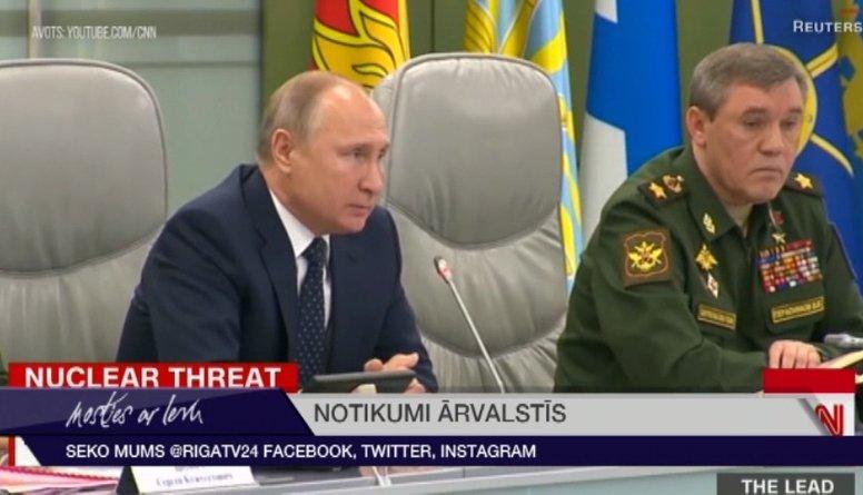 Putins oficiāli aptur Krievijas dalību raķešu līgumā