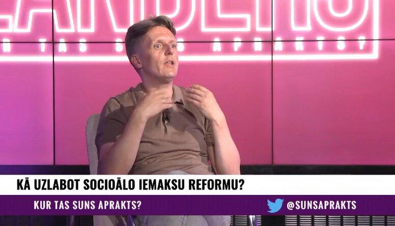 Edgars Jaunups par sociālo iemaksu reformu un atbalstu medijiem