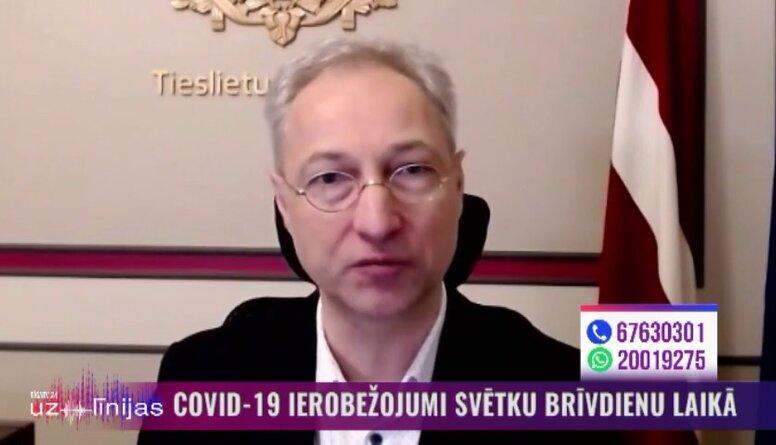 Tieslietu ministrs Jānis Bordāns aicina iedzīvotājus neveicināt drūzmēšanos