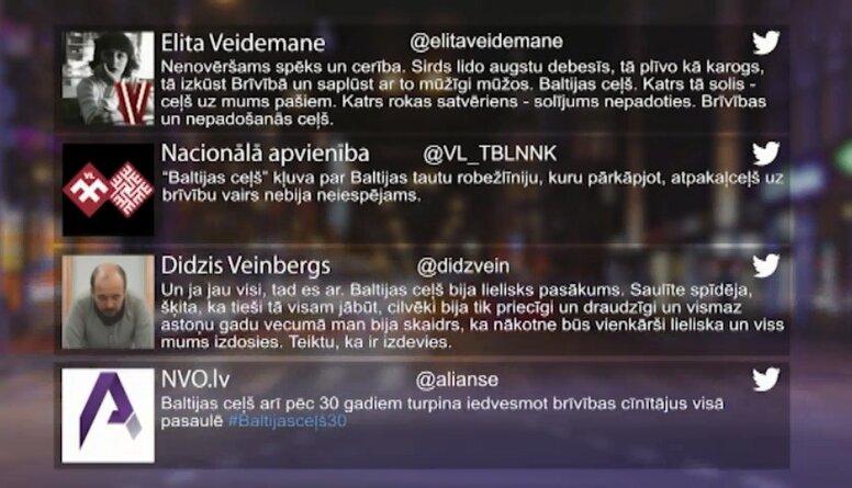 Tvitersāga: Baltijas ceļam - 30