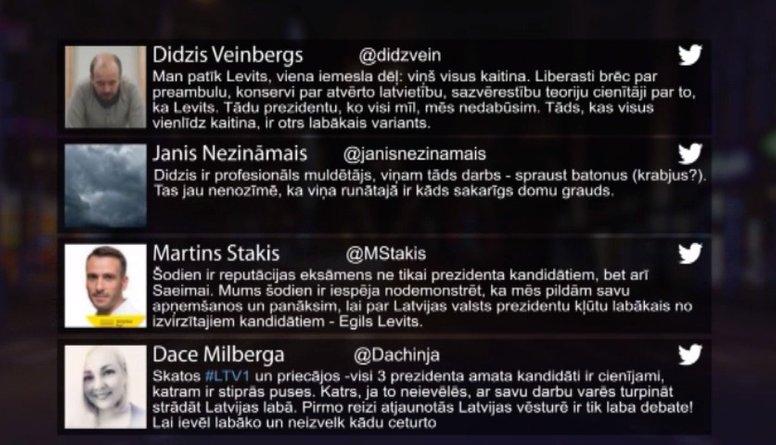 Tvitersāga: Latvijas Valsts prezidenta vēlēšanas