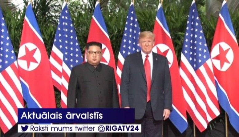 Tramps vēlreiz tiksies ar Ziemeļkorejas līderi Čenunu