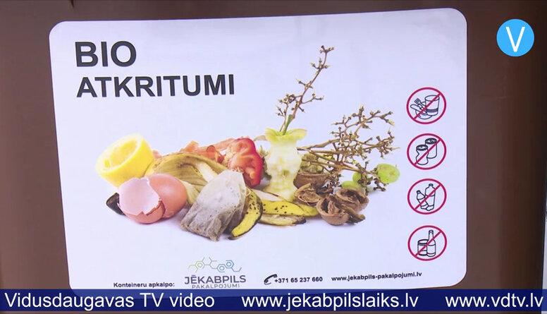 Jēkabpilī uzstāda konteinerus bioloģisko atkritumu šķirošanai