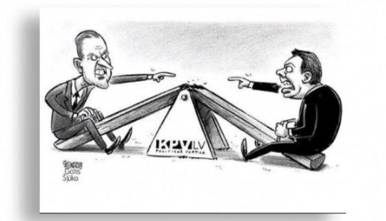"""Karikatūru apskats: """"KPV LV"""" lielās ķildas"""