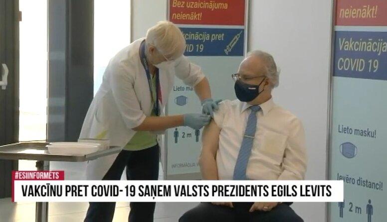 Speciālizlaidums: Valsts augstākās amatpersonas vakcinējas pret Covid-19