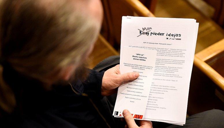 """Šmits par slepeno līgumu 'KPV LV"""" iekšienē"""