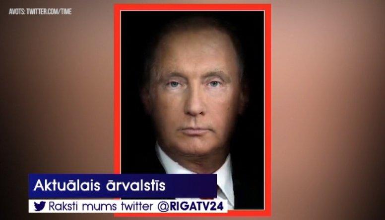 Žurnāla Times skandalozais vāks: Tramps un Putins saplūst vienā personā