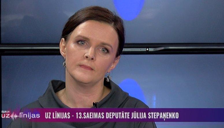 Stepaņenko izvairīgi atbild uz jautājumu par savu vīru - RD deputātu