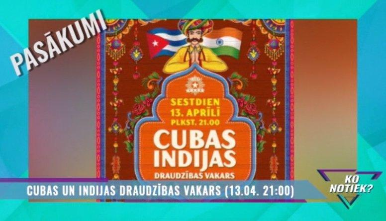 Cubas Indijas draudzības vakars