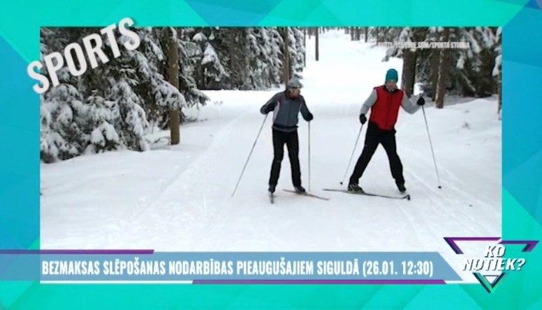 Jau šodien: bezmaksas slēpošanas nodarbības Siguldā!