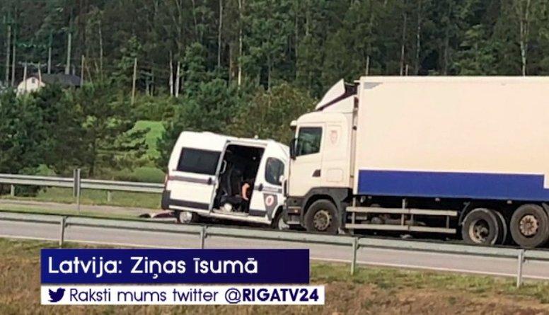 Ceļā uz mācībām «Namejs 2018» avārijā cietuši četri policisti
