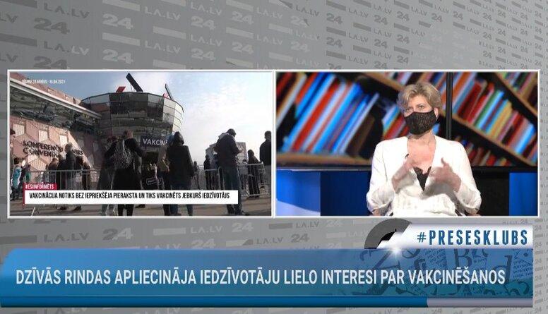 """Anda Čakša par """"dzīvo rindu"""" vakcinācijai pret Covid-19 organizācijas procesu"""