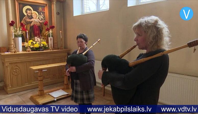 Krustpils katoļu baznīcā Jāzepa dienai velta dievkalpojumu un koncertu