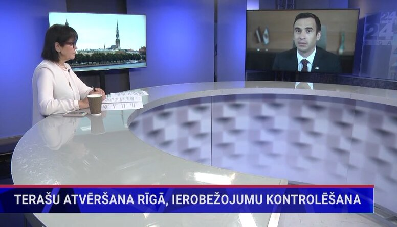 Rīgas mērs par terašu atvēršanu galvaspilsētā
