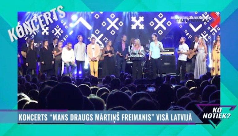 """Koncerti """"Mans draugs Mārtiņš Freimanis"""" visā Latvijā"""