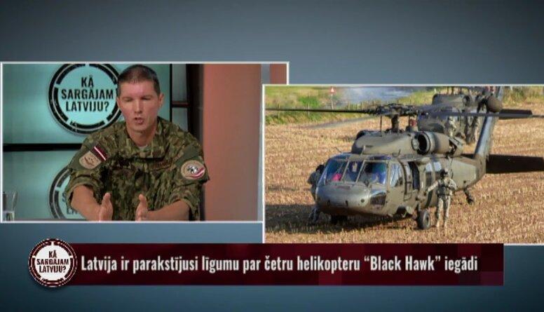 """Latvija ir parakstījusi līgumu par četru helikopteru """"Black Hawk"""" iegādi"""
