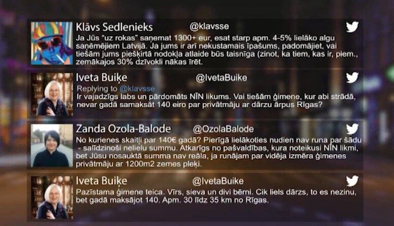 Tvitersāga: Lielāko algu saņēmēji Latvijā