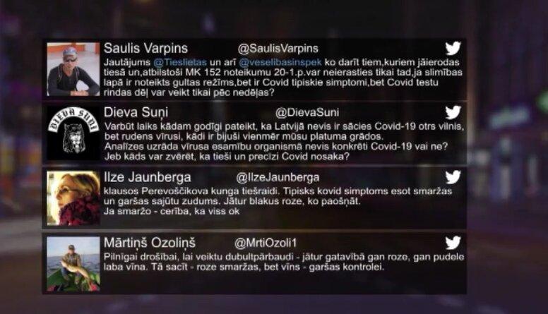 Tvitersāga: Ierosinājumi par Covid-19