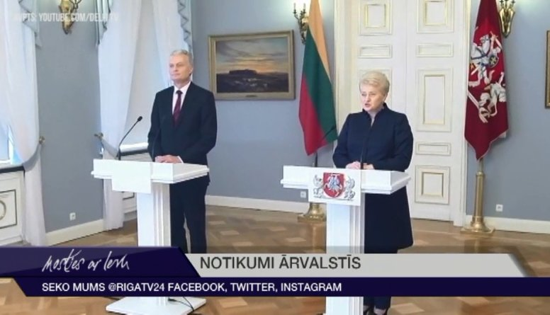 Lietuvā amatā stāsies jaunais prezidents