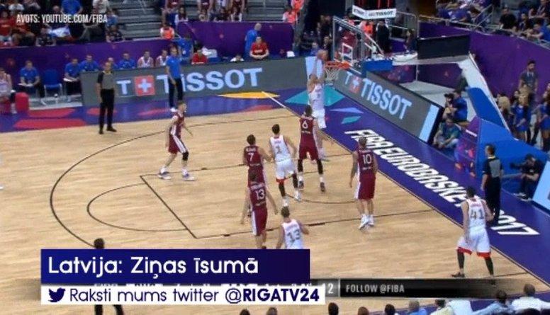Latvijas basketbola izlase aizvadījusi pārbaudes maču ar Krievijas valstsvienību