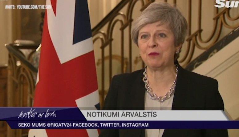 """Parlamenta balsojums par """"Brexit"""" vienošanos tuvākajā laikā nenotiks, ziņo Meja"""