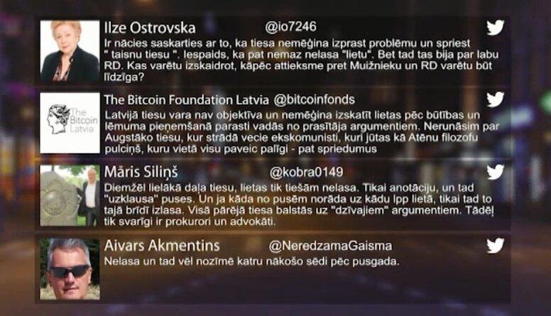 Tvitersāga: Tiesu vara Latvijā