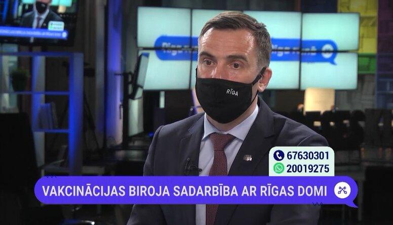Mārtiņš Staķis par vakcinācijas centru tīkla paplašināšanu Rīgā