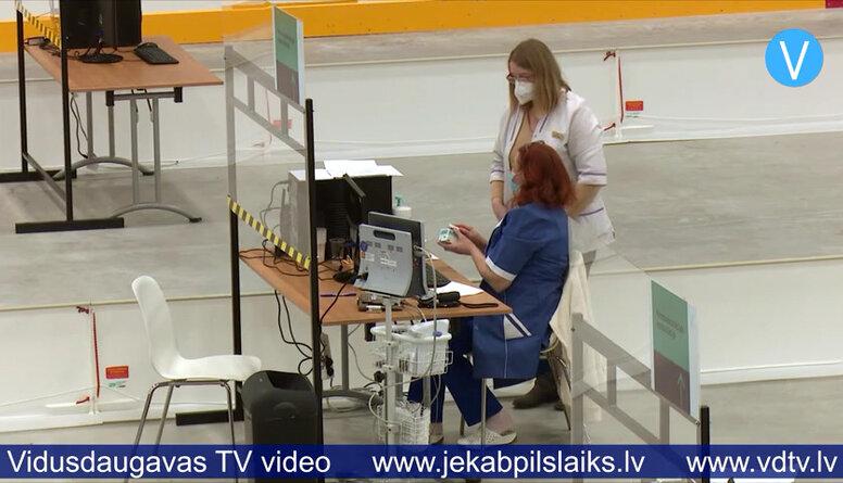 Jēkabpils vakcinācijas centrā paliek neizlietotas trīs vakcīnu devas