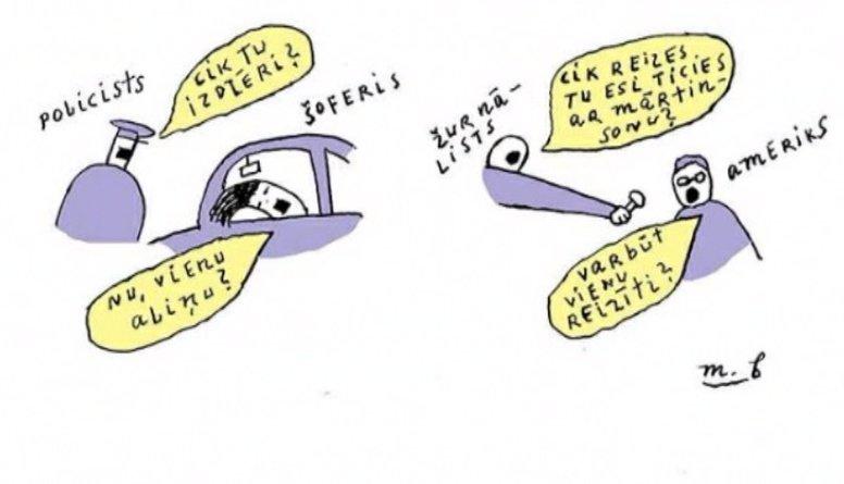 Aplūko: Aktuālie notikumi apspēlēti karikatūrās!