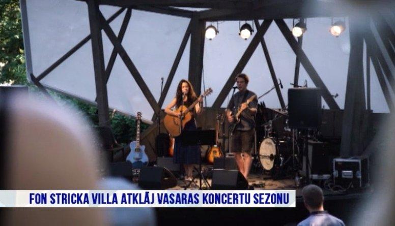 Fon Stricka villa atklāj vasaras koncertu sezonu