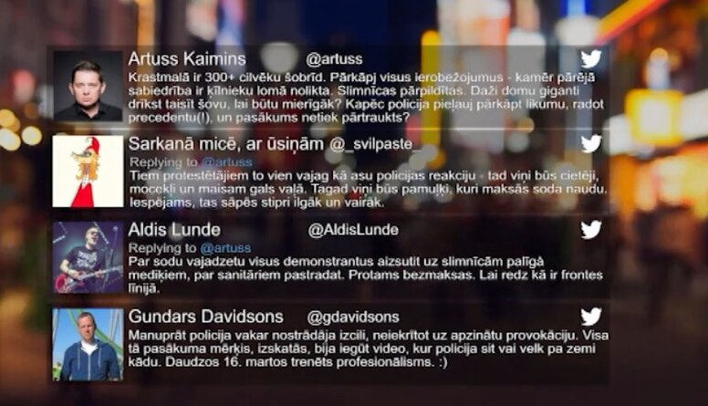 Tvitersāga: Atskaņas no 12. decembra protesta