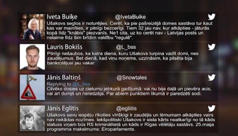 Tvitersāga: Ušakova sāga turpinās..