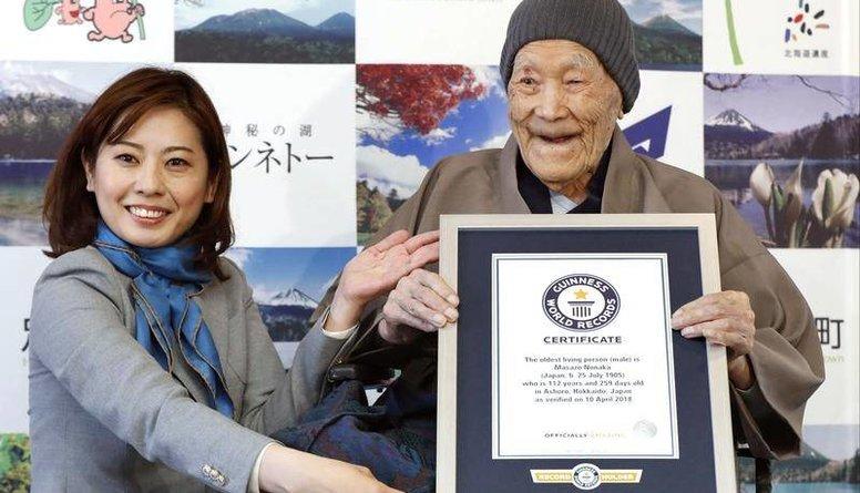 113 gadu vecumā Japānā miris pasaules vecākais vīrietis