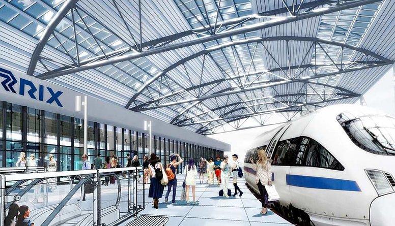 """Vingris: Šobrīd notiek """"Rail Baltica"""" stacijas būvprojekta izstrāde lidostai """"Rīga"""""""