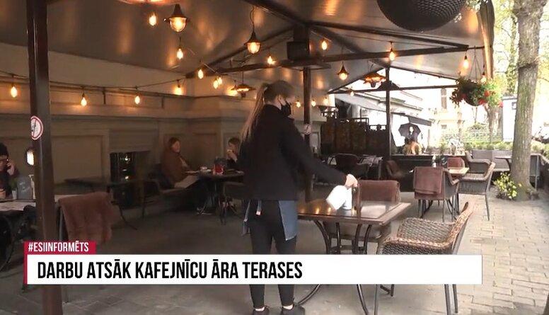 Speciālizlaidums: Darbu atsāk kafejnīcu āra terases 2. daļa