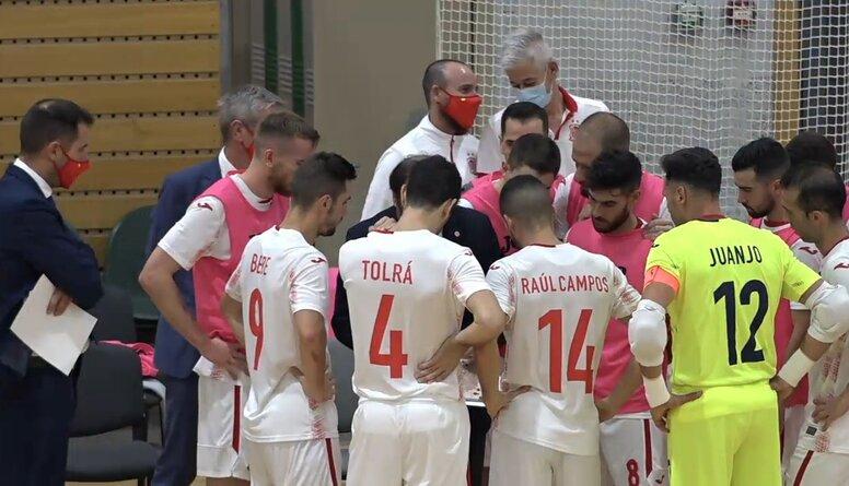 Pārbaudes spēle telpu futbolā: Latvija - Spānija. Pilns spēles ieraksts