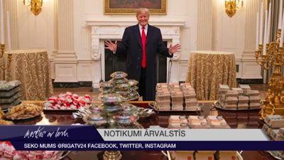 ASV prezidents spiests pats apmaksāt 300 hamburgeru piegādi Baltajam namam