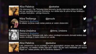 Tvitersāga: Koncerts Dzintaros