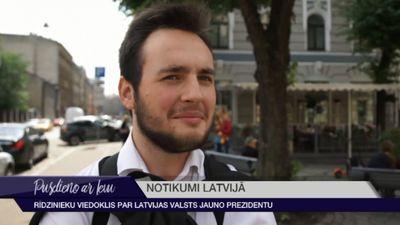 Rīdzinieki par Latvijas jauno prezidentu