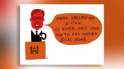 Karikatūru apskats: Nezinītis Ušakovs