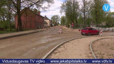 Jēkabpilī satiksmei slēgts Andreja Pormaļa ielas posms