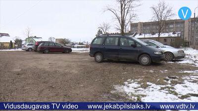 Jēkabpilī palielina autostāvvietu skaitu