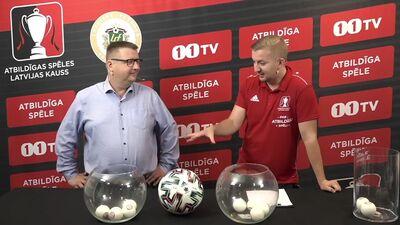 Atbildīgas spēles Latvijas kauss futbolā 2021 pusfinālu izloze