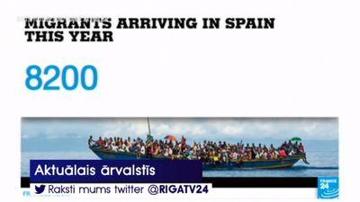 2018. gadā Spānija uzņēmusi 40% no migrantiem, kas ieradušies Eiropā, šķērsojot Vidusjūru