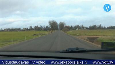 Atjaunots autoceļa posms no Rožupes līdz Vanagiem