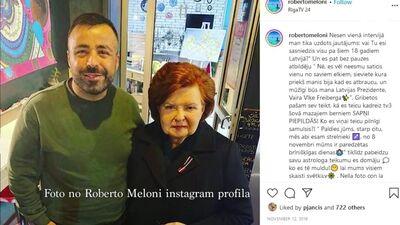 Roberto Meloni dalās atmiņās par to, kā viņš pirmo reizi saticis Vairu Vīķi-Freibergu
