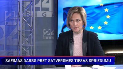 Ineta Ziemele komentē Saeimas darbu pret ST spriedumu